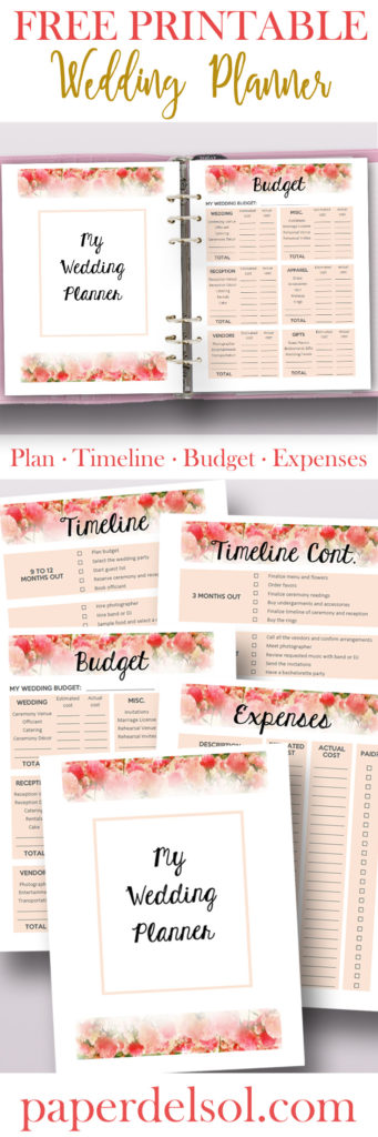Free Printable Wedding Planner For Wedding Binder