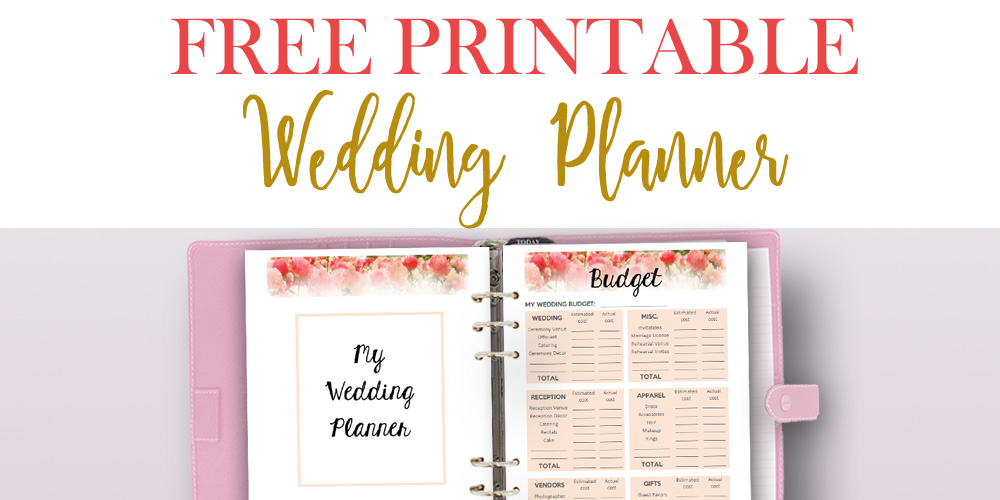 Printable Wedding Planner Binder Planning A Rustic: Free Printable Wedding Planner For Wedding Binder